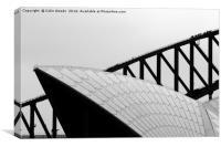 Sydney Opera House and Bridge, Canvas Print