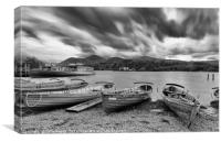 Boats on the Shore of Derwentwater in the Lake Dis, Canvas Print