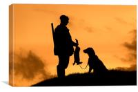 Hunting Hares at Sunset, Canvas Print