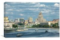 Moscow-river., Canvas Print