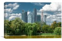 "Business center ""Moscow-city""., Canvas Print"