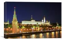 Panorama of Moscow Kremlin, Canvas Print