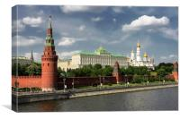 Panorama of Moscow Kremlin, Canvas Print