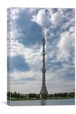 TV-Tower Ostankino., Canvas Print