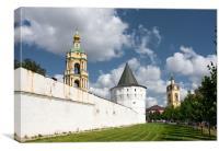 Domes of the Novospassky monastery., Canvas Print