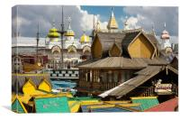 Wooden architecture of Russia., Canvas Print