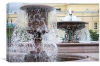 Fountain., Canvas Print