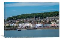 Weston Old Town & Harbour , Canvas Print