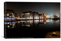 Gloucester Docks By Night, Canvas Print