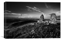 Stone Stacks on Skipton Moor, Canvas Print