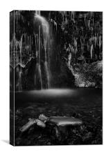 Frozen Waterfall, Buckden, Canvas Print