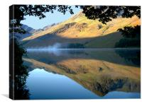 Mist On Buttermere, Buttermere, Canvas Print