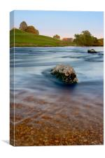 River Wharfe at sunset, Linton, Canvas Print