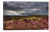 Cowper's Cross, Ilkley Moor, Yorkshire, Canvas Print