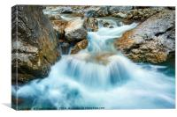 Mountain river, Canvas Print