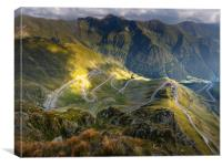 Transfagarasan highway in Romania, Canvas Print