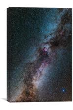 Milky Way galaxy, Canvas Print