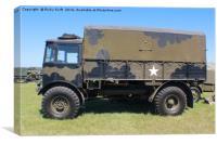 American World War Truck, Canvas Print