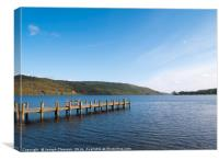 Jetty on Coniston Water, Canvas Print