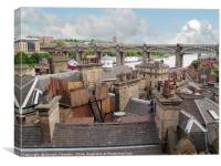 Old Newcastle Rooftops, Canvas Print
