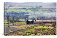 46115 Scots Guardsman on Winter Cumbrian Express, Canvas Print