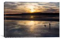 Sunset at  Arnside over the Kent estuary, Canvas Print