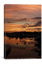 sunset at the marina, Canvas Print