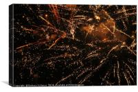 fireworks in Kastela, Canvas Print