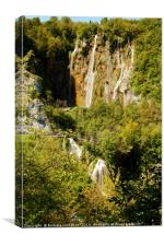 Waterfalls in Plitvice National Park, Canvas Print