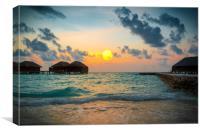 Sunset on paradise, Canvas Print