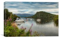 Boats on Loch Lomond, Canvas Print
