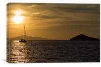 Greek Island Sunset, Canvas Print