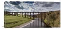 Leaderfoot Viaduct spanning the river Tweed in the, Canvas Print