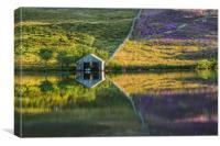 Boat House Reflection, Llynnau Cregennen, Canvas Print