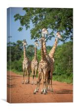 Tower of Thornicroft Giraffe, Canvas Print