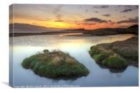 Embleton Estuary Northumberland., Canvas Print