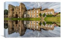 Tonbridge Castle Reflections, Canvas Print