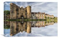 Tonbridge Castle Reflections 2, Canvas Print