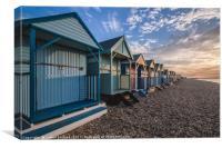 Kent Beach hut collection 3, Canvas Print