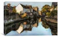 River Stour (canterbury, Kent, England), Canvas Print
