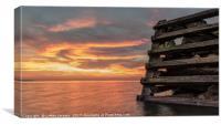 Hampton Pier Sunset, Canvas Print