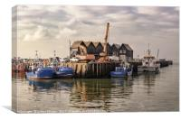 Water at Whitstable (colour), Canvas Print