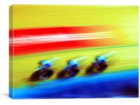 The Race is On., Canvas Print