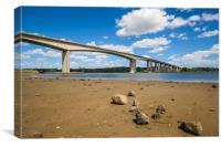 Bridge over the river Orwell, Canvas Print