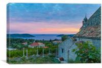 Dusk on the Croatian  coast, Canvas Print
