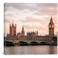 Palace of Westminster, London, Canvas Print