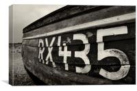 Weathered boat hull, Canvas Print