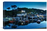 Polperro by night, Canvas Print