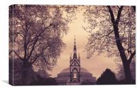 Albert Memorial & Royal Albert Hall, Canvas Print