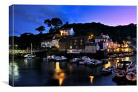 Polperro twilight, Canvas Print